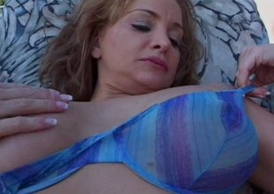 Busty blonde MILF enjoys dirty fetishes and out of the closet sex