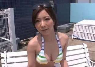 Outdoor blowjob scenes along Ayami Japan hottie