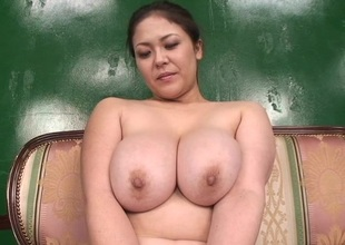 Sexy infant with big tits shows her amazing blowjob skill on rearrange up