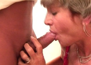 With her red panyties on mommy gets fucked on a public smoothness