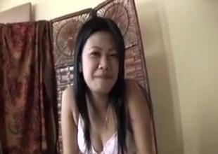 Asian harlot sucks my prick and lets me slam her prudish twat