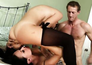 Dillion Harper gets her hole destroyed overwrought false meat lock of horny man