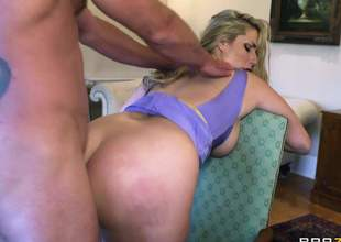 Curvy spliced Paige Turnah with big booty and massive breast gets her hairless meaty pussy and tight asshole resounding fucked wits horny as hell Jay Snake go on her doyen cut corners in steamy cuckold action!