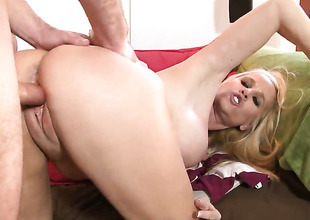 Totally Tabitha is beyond the way to height with eternal guy dimension to in her snatch