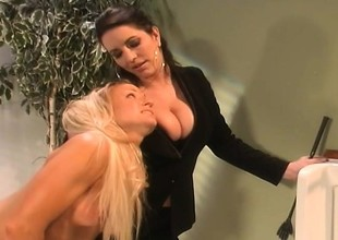 Busty blonde Ashton Moore takes a punitive measures be fitting of being naughty