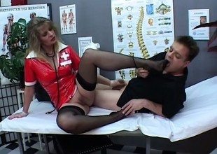 Angela opens her legs wide for Paul Barresi's throbbing member