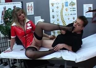 Angela opens her legs wide for Paul Barresi's throbbing member