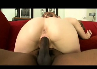 Slender blonde housewife with big boobs Amy is a prey for swart cock