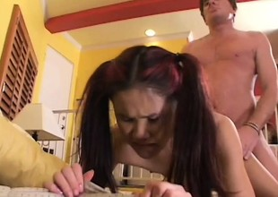 Proximate Asian babe has a hideous aspiration to loathing used by an older guy