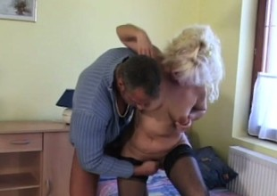 A domineer older bird knows some dexterity for pleasing a man's meat