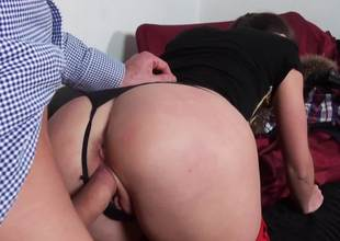 Naughty cutie gets punished with a hulking dick inside of her cunt