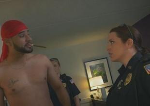 Arab guy raided by big boobs non-standard establishment cops