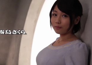 Crazy Japanese botch Sakura Kirishima in Best fingering, big tits JAV movie