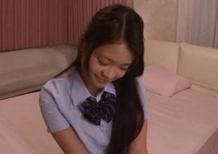 Elegant Kana Tsuruta pretty young Asian babe