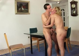 Hot old-young mating instalment with hungry full-grown bitch Lili and the brush friend
