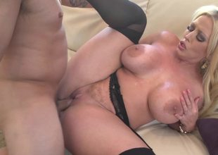Curvy blonde MILF will blow your mind in this freaky XXX instalment