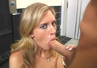 Nice Babe sucking hard more than big shaft. Top-drawer blowjob & facial.