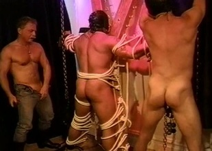 Two gay bodybuilders ass spunking