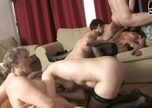 Lucky supplicant gets to fuck these four horny