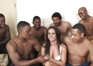 Ariana Jollee black cock gangbang