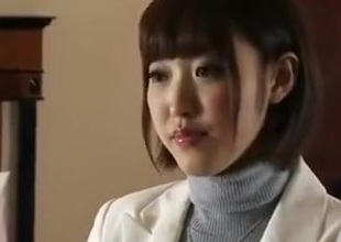 Japanese unrepining wife offered to some change off boy