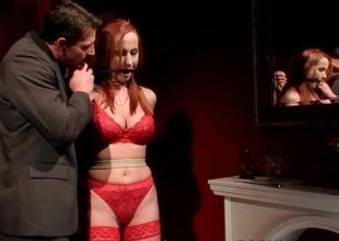 Redheaded MILF gets bondaged together with punished