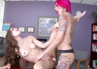 Tiffany Star seduced by tattooed medico Anna Bell Peaks