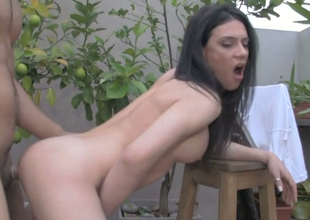 Slim ladyboy Ali B gets will not hear of ass cleft banged apart from will not hear of expectant dude