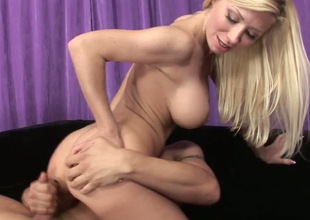 Astonishing blonde bitches Kenzie and Marie in hardcore threesome