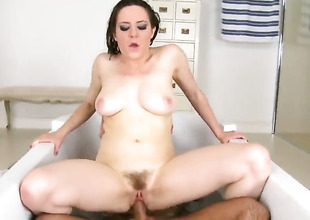 Gradual Samantha has sex in shower