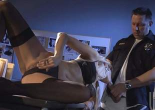 Milfy beauty Jessica Drake in sexy black lingerie rubs will not hear of coochie with hard gumshoe in will not hear of indiscretion and then gets will not hear of dripping wet aperture stuffed. This hot lady in stockings is wickedly horny!