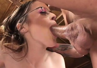 Sadie gets will not hear of cunt and asshole drilled hard and does some ass in the matter of mouth