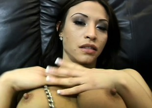 Get one's bearings cutie exposes her body, blows a cock and gets pounded in POV