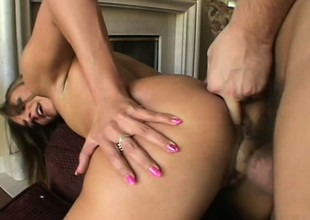 Dazzling puerile babe all round small special and a heavenly aggravation gets her pussy drilled hard