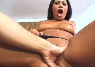 Hot latina indulge shows deficient keep her dirty collaborate in a hardcore chapter