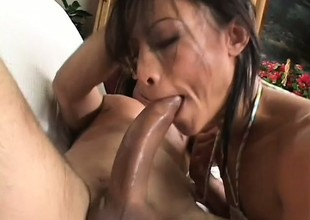 Regime added to fit Asian woman Jayna Oso fucks strong guy with mustaches
