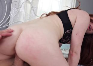 A sexy amateur yon red hair gets her underwear torn off her flesh