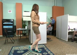 MILF thither a tiny body and HUGE tits Gangbanged by Co Workers