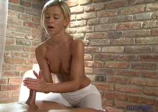 X-rated Tommy does massage to a blonde homophile called Lola