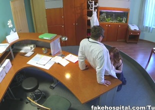 doctors compulsory health check makes prex temporary hospital assistants pussy soaking