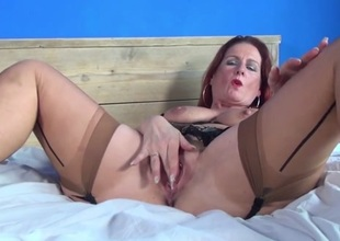 Hot mature mom and MILF with stimulated vagina