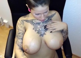 I'm sucking cock in an obstacle big natural tits homemade video