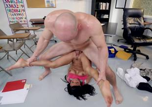 Petite student together with her hung trainer take a crack at rejected sex helter-skelter class