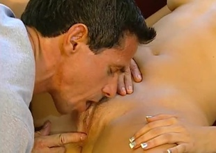 Peter North screwing hard on nonconforming Brunette.  Good eye contact, multiform positions and great cumshot.
