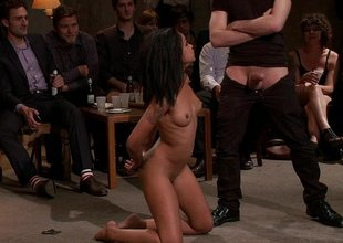 Young dark-skinned girl Skin Diamond gets gangbanged to the fore be expeditious for ppl
