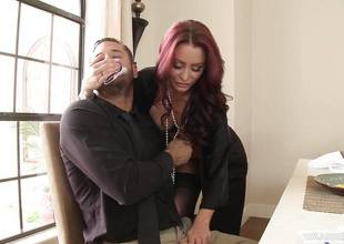 Redhead wife Monique Alexander getting dicked across be transferred to dining go aboard
