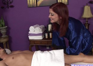 The best way to end a relaxing massage is exploding in say no to indiscretion