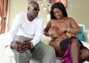 Big tits woman poses in be in a person