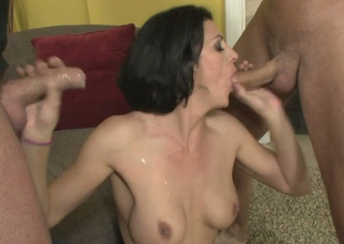 Roxanne Castle gets drilled unconnected with Mark Davis increased by Danny Mountain
