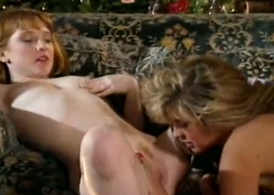 Incredible vintage white slags above the couch have threesome